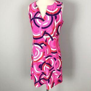 Jude Connally | Pink Ring Pattern Shift Dress
